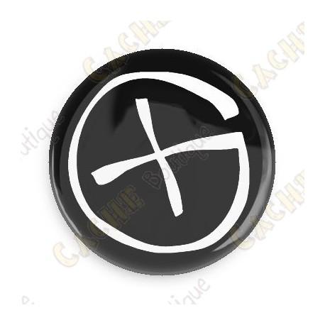 Badge Geocaching - Noir