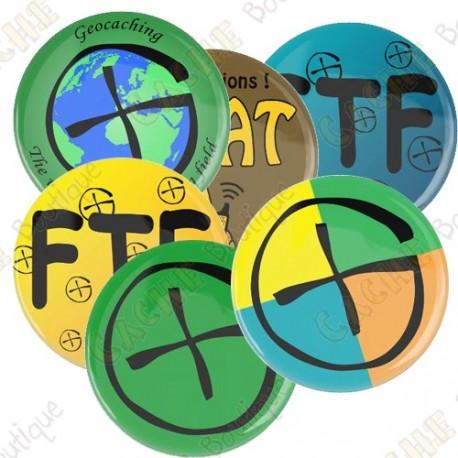 Badges - Lot de 6