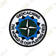 Patch geocaching rond - The World is our Playing Field