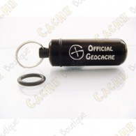 Micro capsule "Official Geocache" 5 cm - Preta