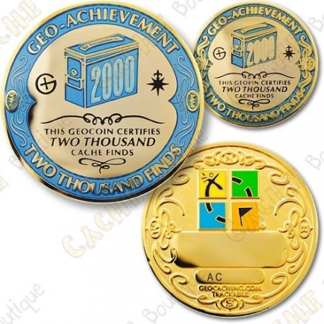 Geo Achievement 2000 Finds - Coin + Pin