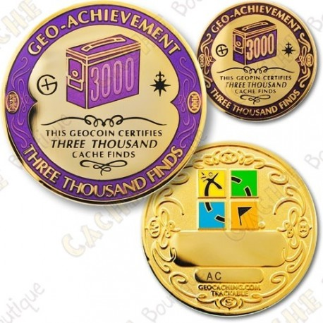 Geo Achievement 3000 Finds - Coin + Pin