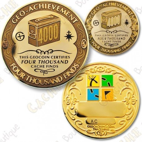 Geo Achievement 4000 Finds - Coin + Pin's