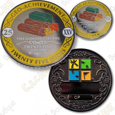 Geo Achievement 25 Hides - Coin + Pin