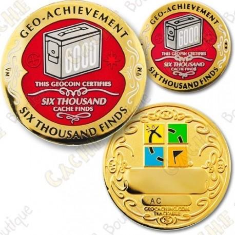 Geo Achievement 6000 Finds - Coin + Pin's