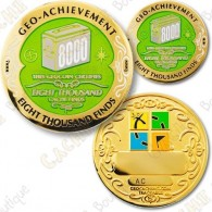 Geo Achievement® 8000 Finds - Coin + Pin