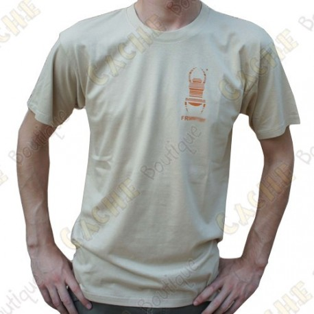 "T-Shirt ""Travel Bug"" Trackable Homme - Sable"