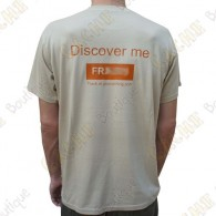 "Trackable ""Discover me"" T-shirt for Men - Sand"