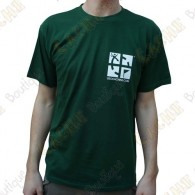 "T-Shirt ""Discover me"" Trackable Homme - Vert"