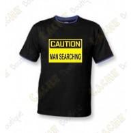 "Camiseta ""Caution"" Hombre - Negro"