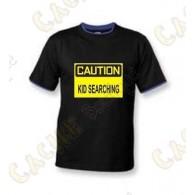 """Camiseta """"Caution"""" Niño - Negro"""