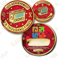 Geo Achievement® 10 000 Finds - Coin + Pin's