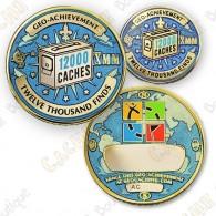 Geo Achievement® 12 000 Finds - Coin + Pin's