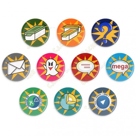 Badges Cache Icon - Lot de 10