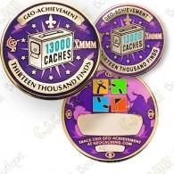 Geo Achievement® 13 000 Finds - Coin + Pin's