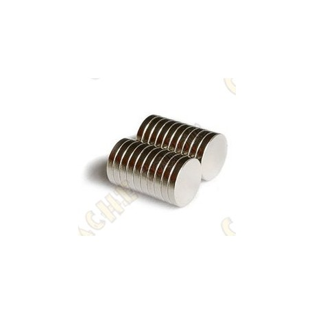 Magnets neodymes 12mm - Lot de 5