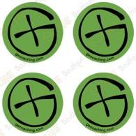 """Sticker Geo """"Round Small"""" - Conjunto de 4"""