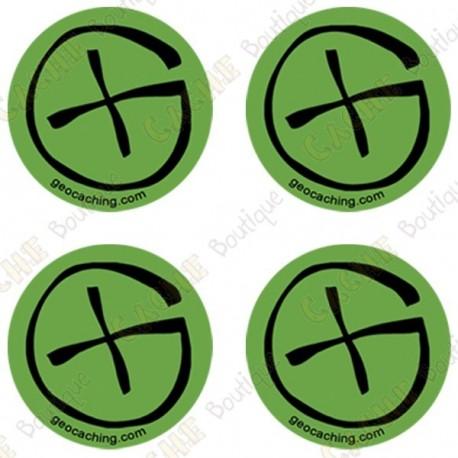 """Sticker Geo """"Round Small"""" - Lote de 4"""