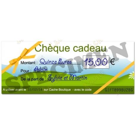 Cupom de presente - 15€