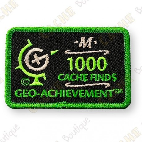 Geo Achievement® 1000 Finds - Parche