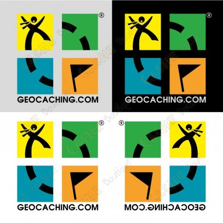 Mini stickers Geocaching - Conjunto de 4