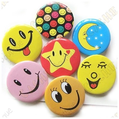 "Badge ""Smile & co"" X 10"