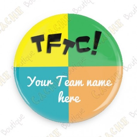 Badge Team Name x 50 - Personnalisable