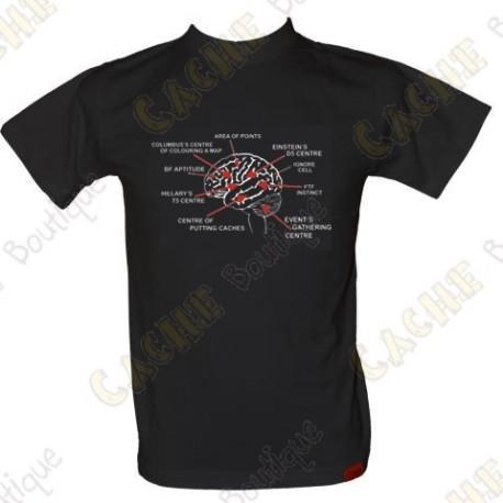 "Camiseta ""Geo Brain"" Hombre - Negro"
