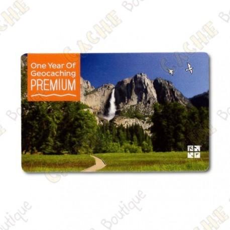 Carte d'abonnement PREMIUM geocaching.com - 1 an