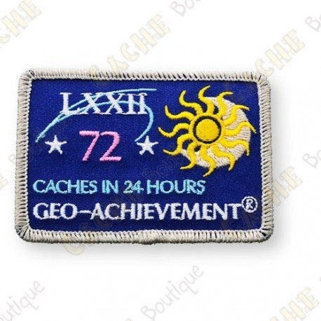 Geo Achievement® 24 Hours 72 Caches - Patch