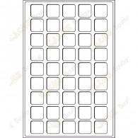 Plateau L pour géocoins 31 x 31 mm - 45 cases