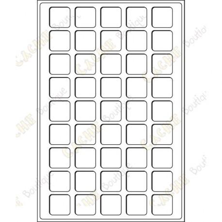 Bandeja L para geocoins 31 x 31 mm - 45 cajas