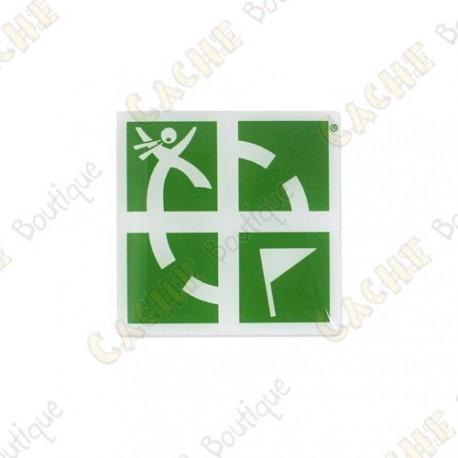 Pin's Groundspeak - Verde