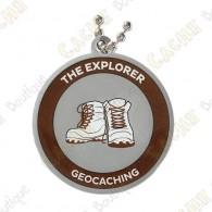 Este geocoin é trackable em   www.geocaching.com   .