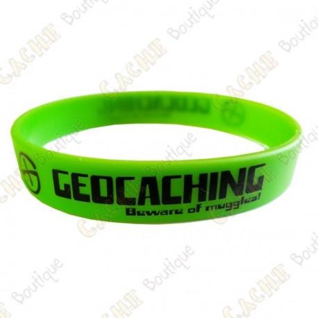 Bracelet silicone Geocaching - Vert