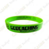 Pulseira de silicone Geocaching crianças - Verde