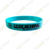 Bracelet silicone Geocaching Enfants  - Bleu
