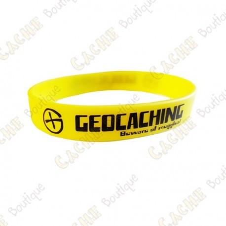 Pulsera de silicona Geocaching niños - Amarillo