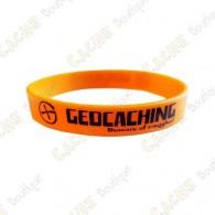 Pulsera de silicona Geocaching niños - Anaranjado