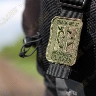 Parche geocaching trackable con logotipo Groundspeak.