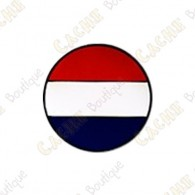 Micro coin que representa la bandera de Holanda.