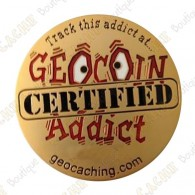 "Géocoin ""Addict"" - Gold"