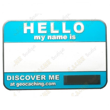 Name tag trackable - Aqua