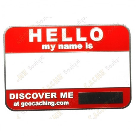 Name tag trackable - Rojo