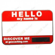 If you already have a tracking code you can just write it with a permanent marker on this badge!