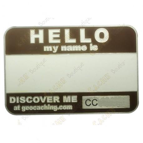 Name tag blank - Marrón