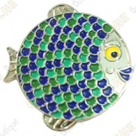 "Geocoin ""Rainbow Fish"" V2 - Groundspeak Blue"