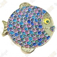"Geocoin ""Rainbow Fish"" V2 - Fashion Purple Silver LE"