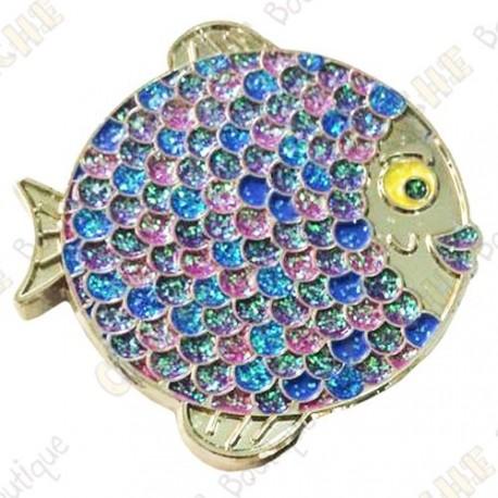 "Géocoin ""Rainbow Fish"" V2 - Fashion Purple Silver LE"