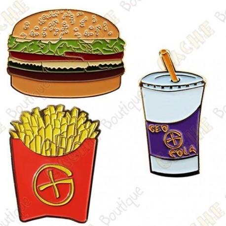 "Géocoin ""Fast Food"" - Menu complet"